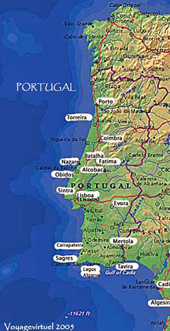Map Of Portugal Photographic Guide - Portugal map obidos