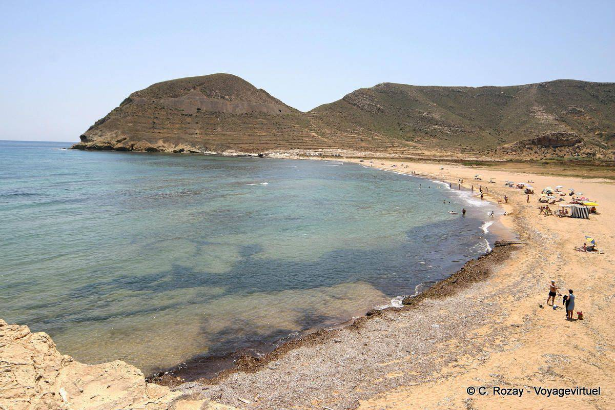 beach near isleta del moro cabo de gata spain andalusia
