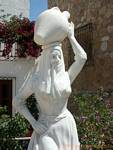 Statue of the carrier amphora, Mojacar, Spain.
