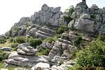 Horizontal strata of rock, Torcal de Antequera, Spain.