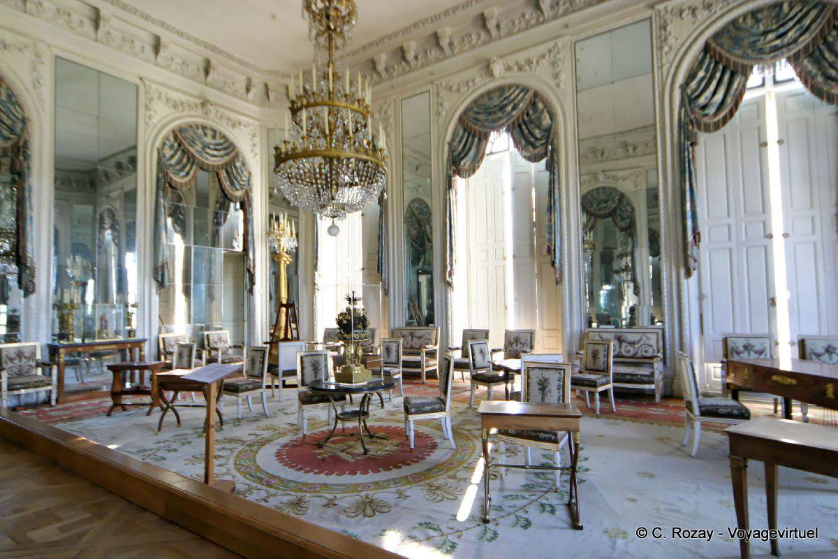 Hall of mirrors apartment of the empress grand trianon versailles - Cabinet mansart versailles ...
