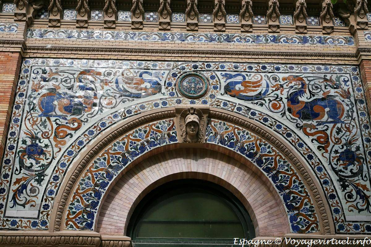 Madrid Parque Del Buen Retiro Palace Tiles Velasques Spain