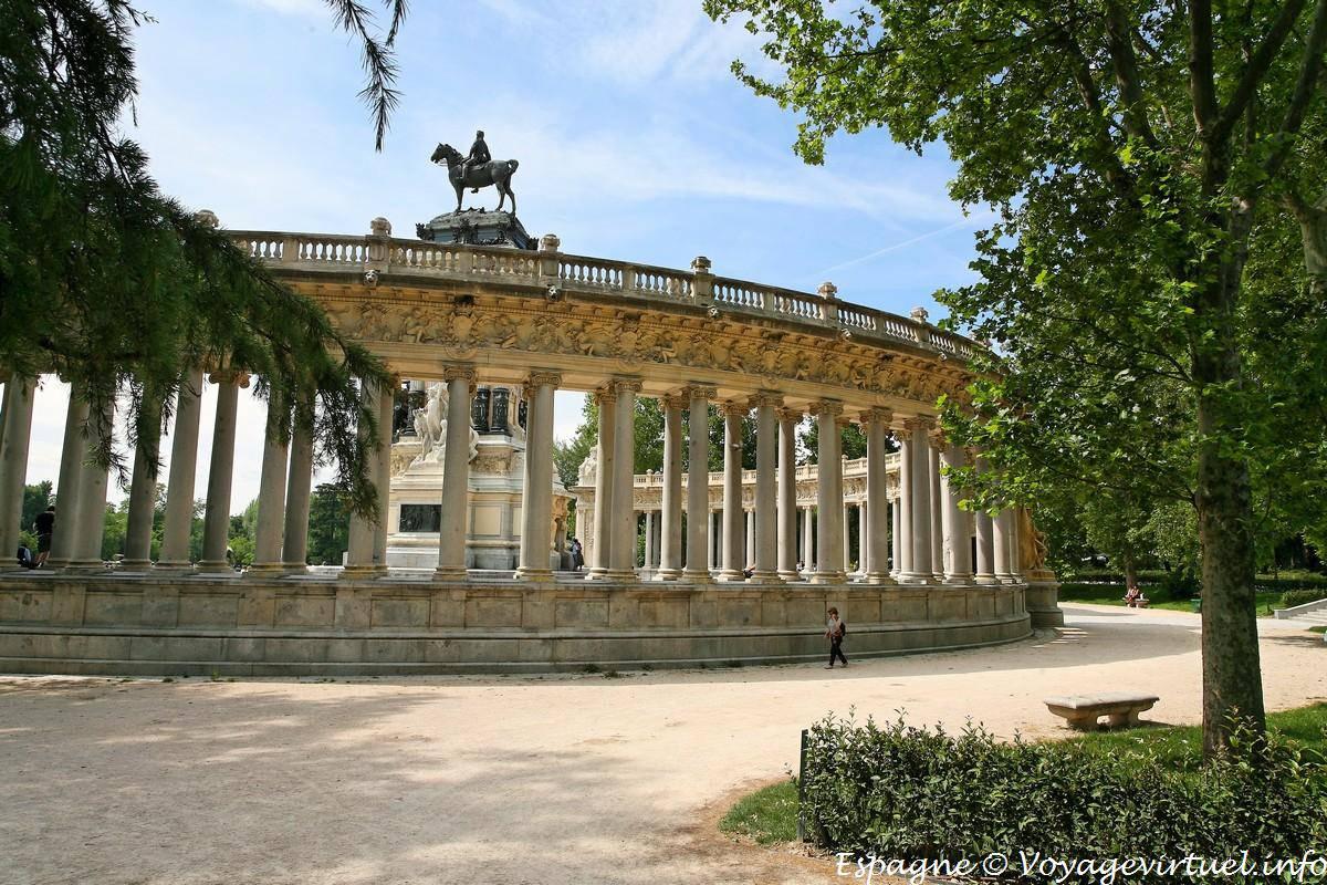 Madrid Parque Del Buen Retiro Rear View Of Alfonso Xii