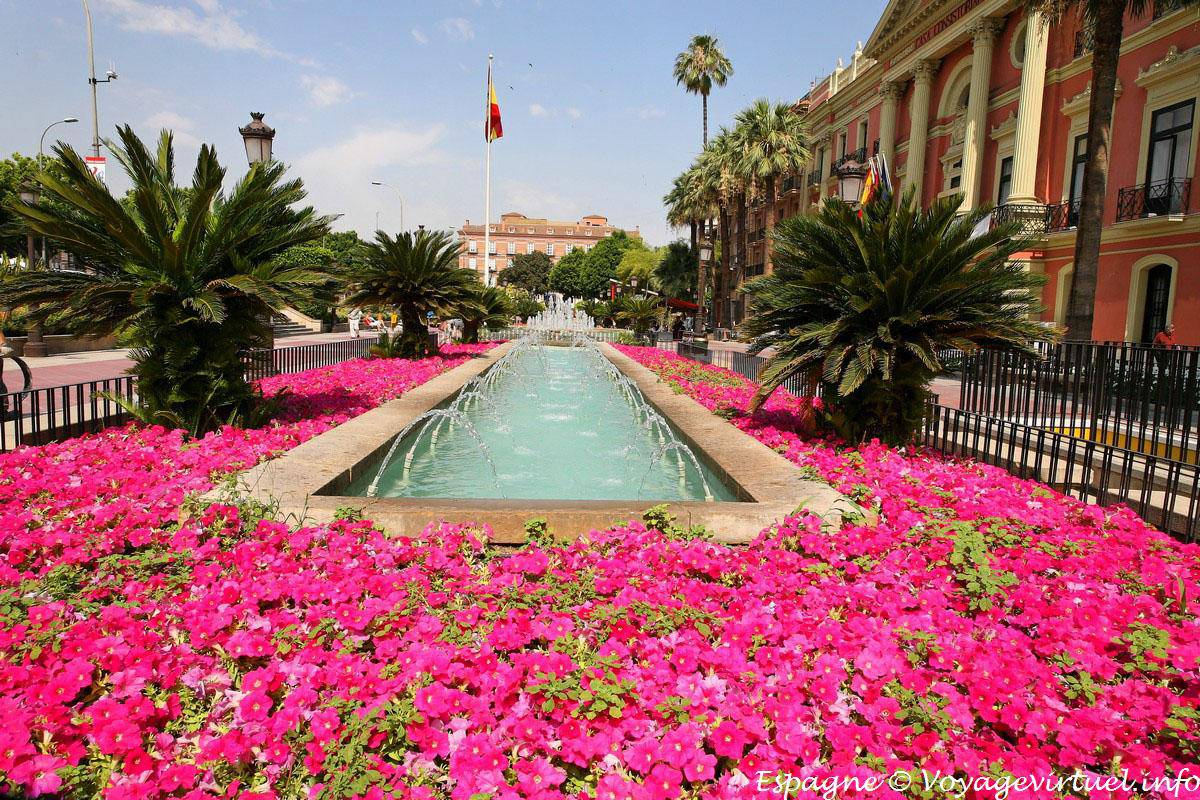 murcia garden in front of the casa consistorial spain