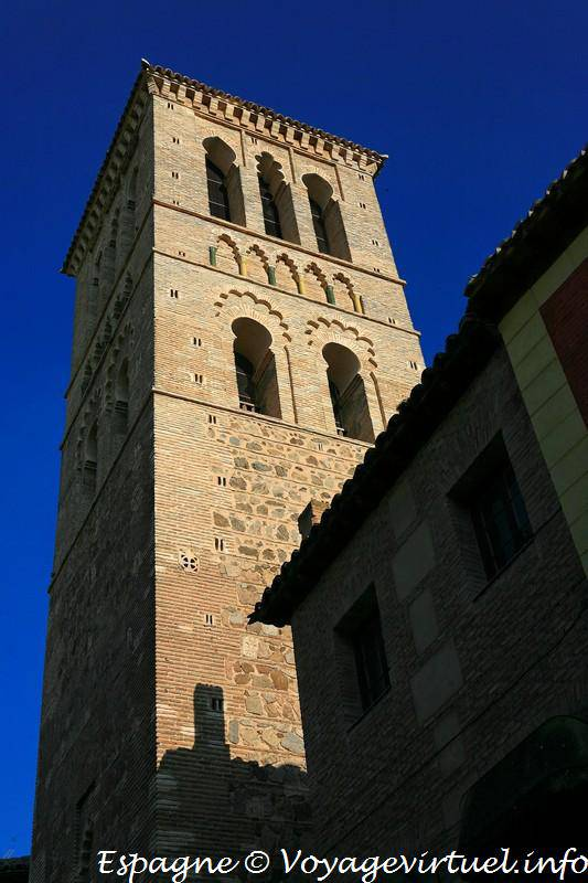 Toledo, bell tower of the Iglesia Santo Tome - Spain