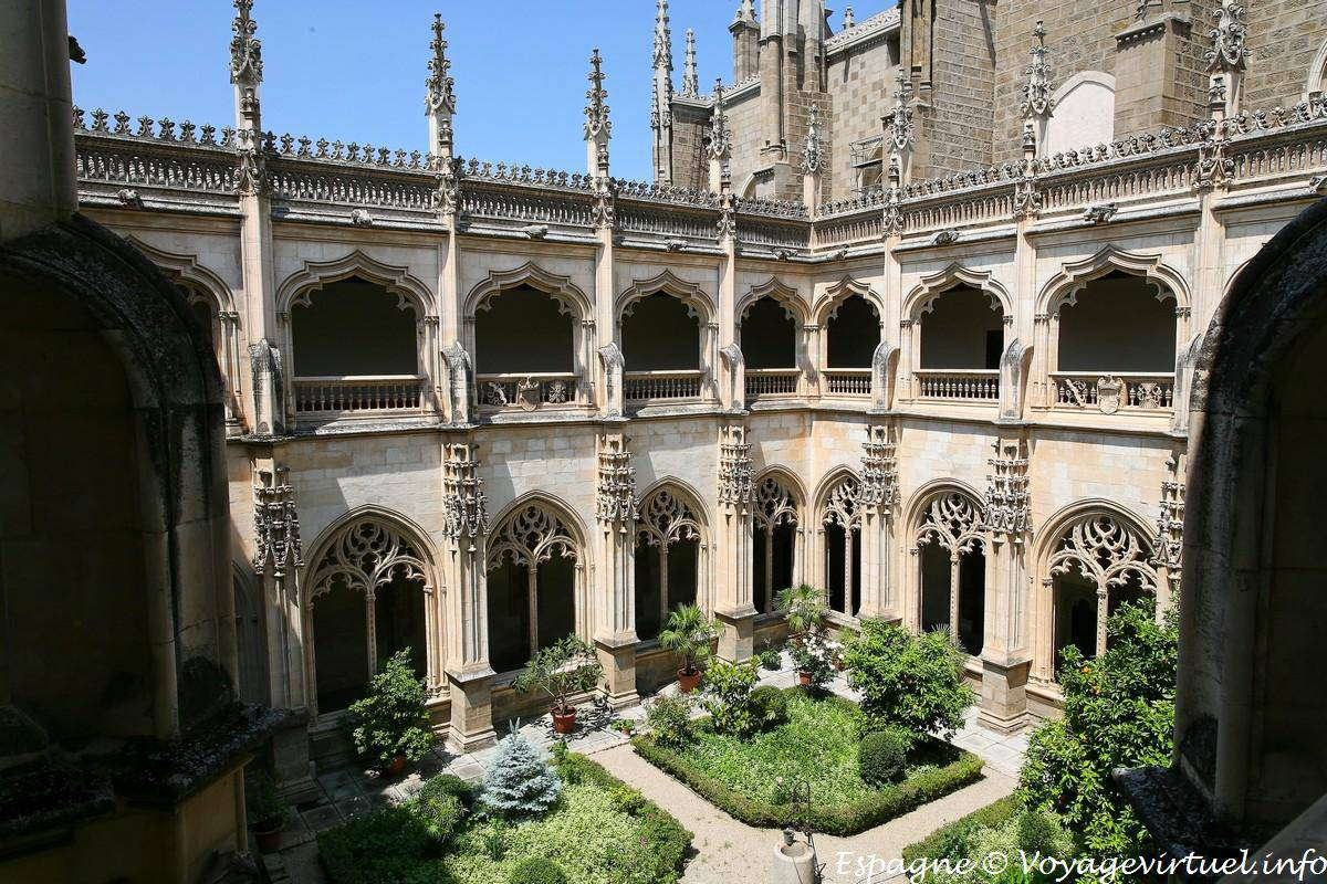 Inside cloister garden view from the first floor ...