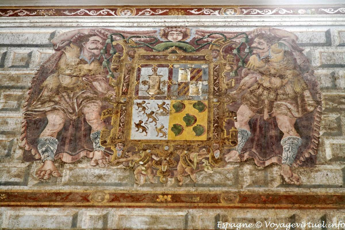 Beda mural hospital de santiago spain for Peinture metallisee murale