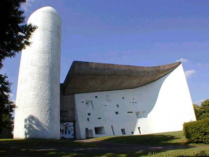 Chapel of Ronchamp by Le Corbusier, Franche-Comté, France
