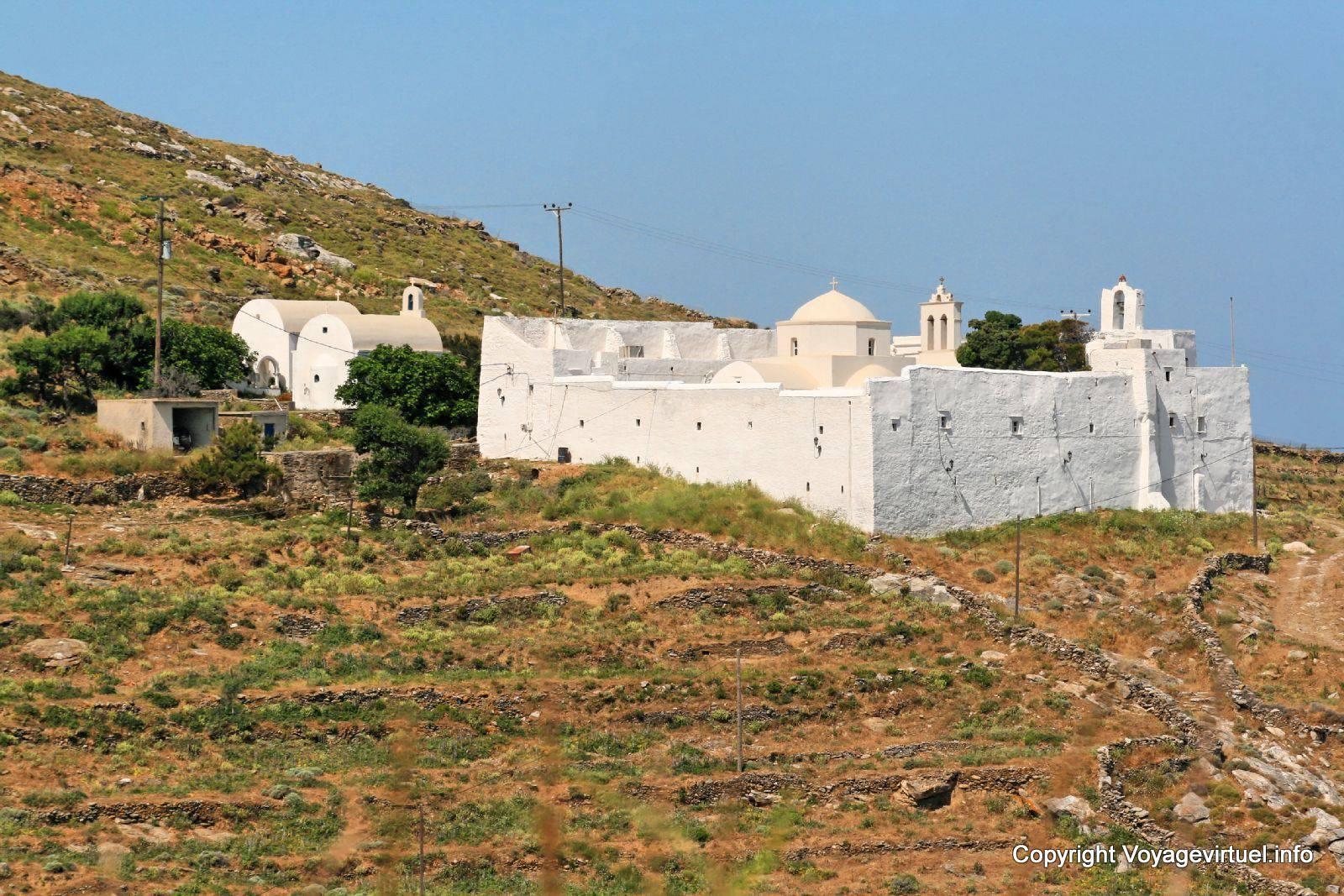 Serifos monastery Moni taxiarchs Taxiarchon - Greece