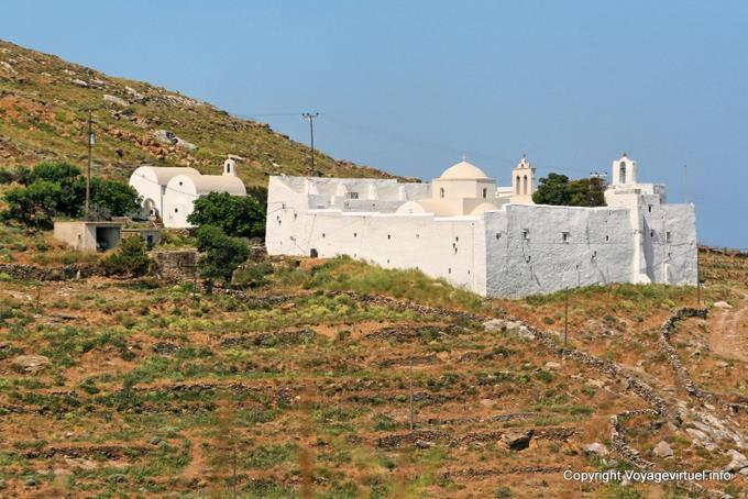 Serifos Monastery Moni Taxiarchs Taxiarchon Greece