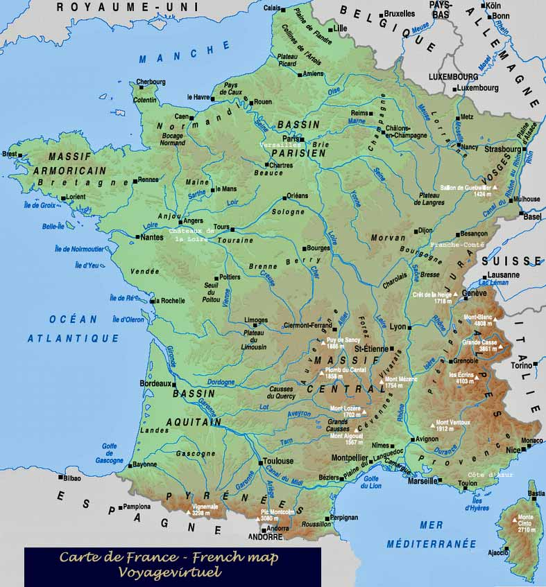 French map carte France