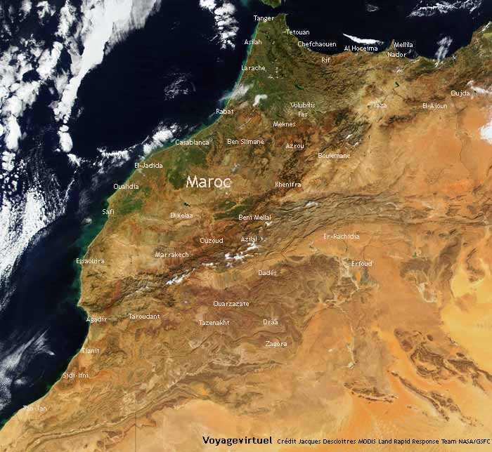 Map Of Morocco Pictures Amp Travel