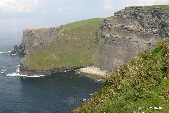 Regard vers le nord, Cliffs of Moher, Irlande