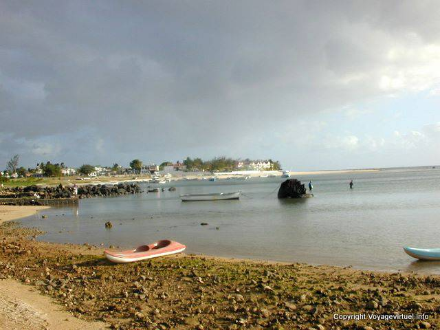 Lights near the port of Flic en Flac, Mauritius.