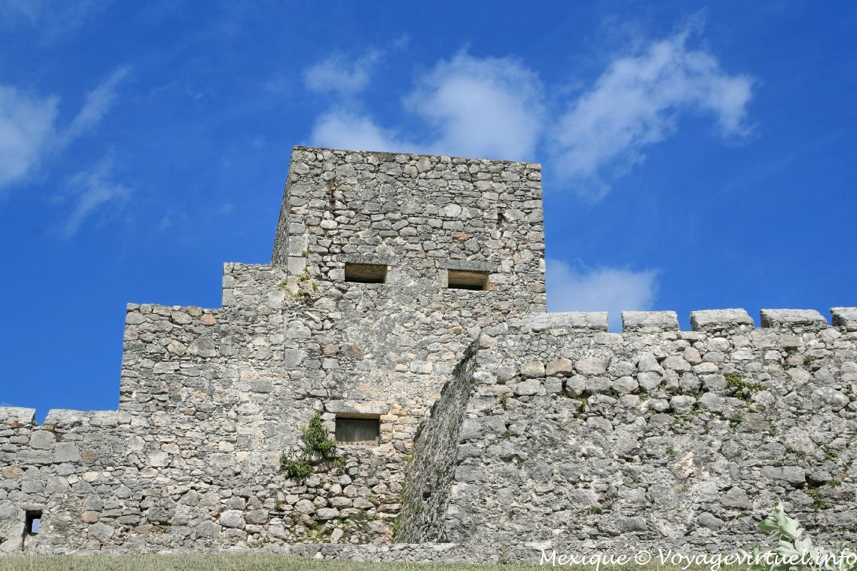 Tower Of The Fortress Of San Felipe Laguna Bacalar Mexico
