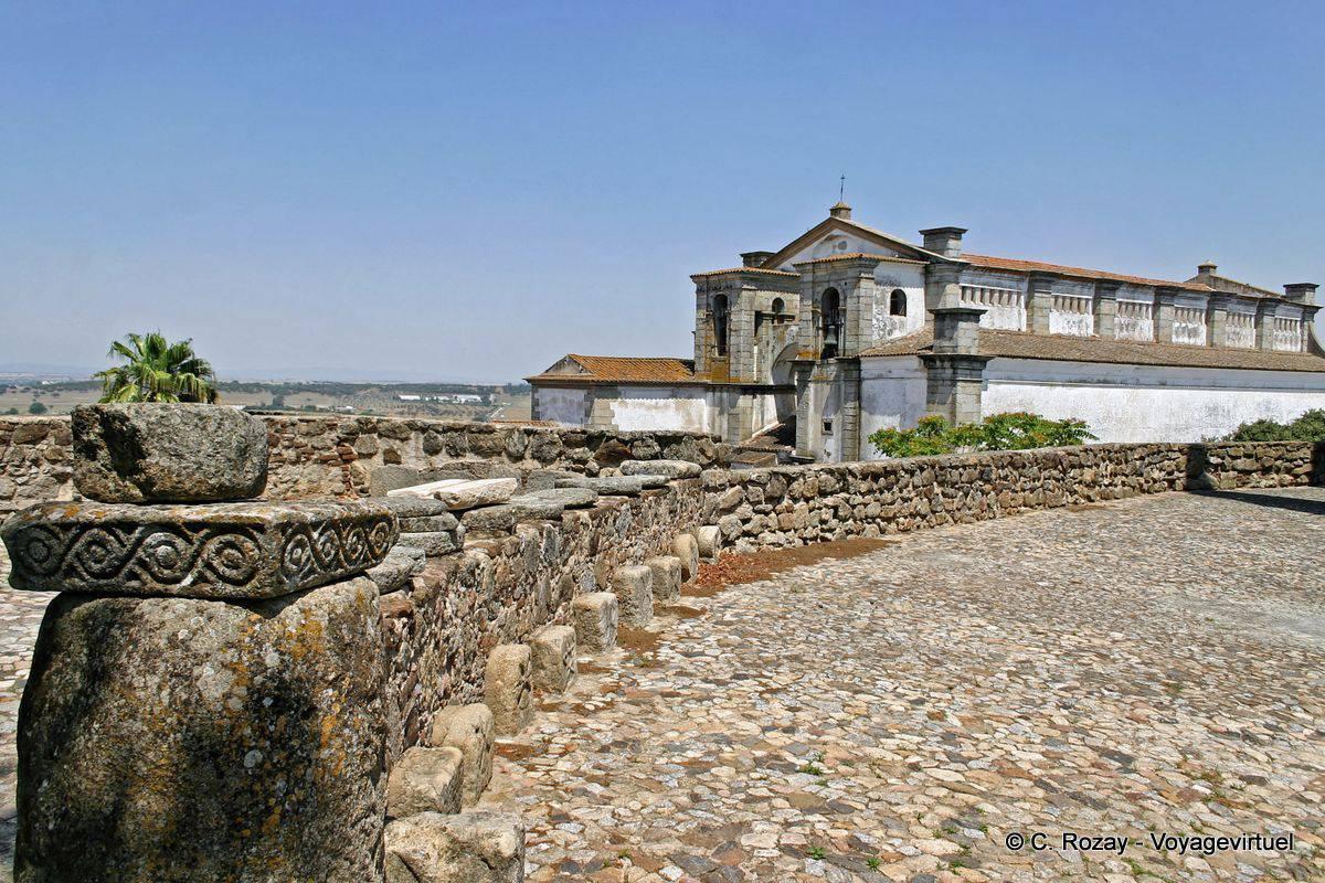 Ancient paving of the Roman forum, Évora - Portugal