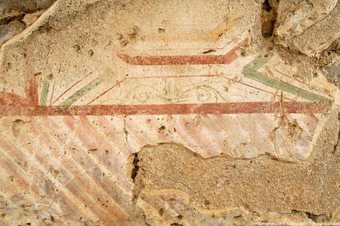 Fordongianus roman baths decorative paint remains sardinia for Peinture decorative