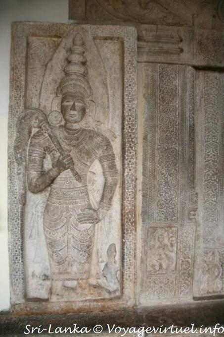 Stone carving of a guardian the temple dalada maligawa
