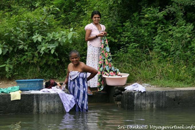 Laundry In The River Near Hingurakgoda Medirigiriya Road