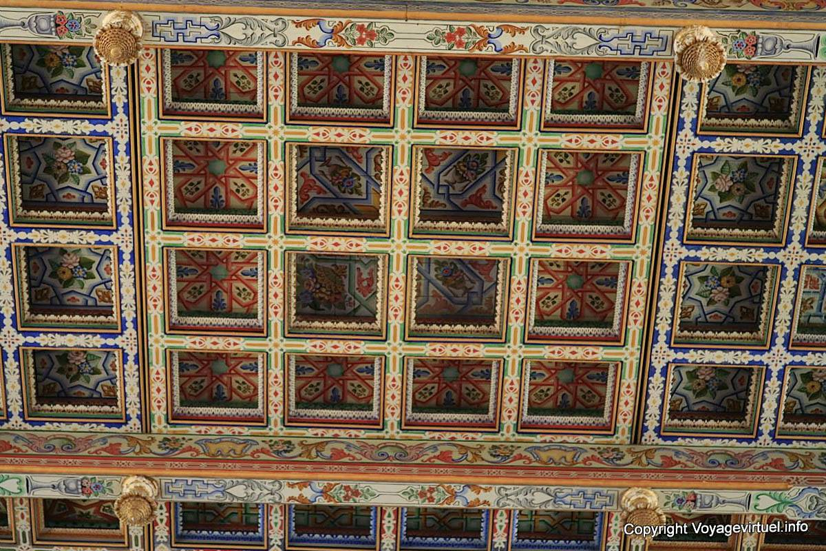 carthage saint louis cathedral detail of painted wooden coffered ceiling tunisia. Black Bedroom Furniture Sets. Home Design Ideas