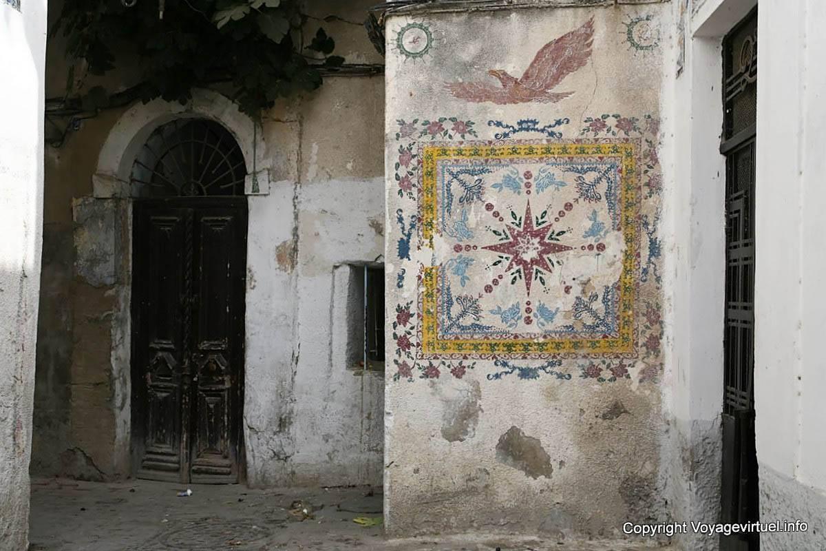 Tunis medina mural tunisia for Peinture nacree murale