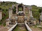 Ancient monument, the God of the Fountain, Perge, Turkey.