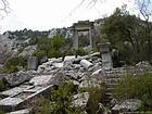 Termessos, ruins of the Temple of Artemis and Hadrian propylaea, Turkey.